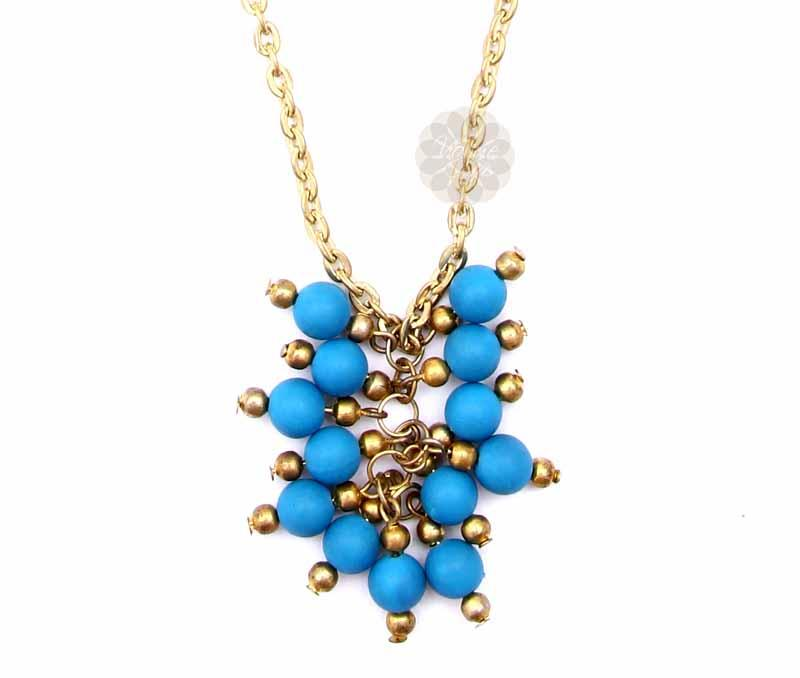 Cluster of Blue Beads Pendant -