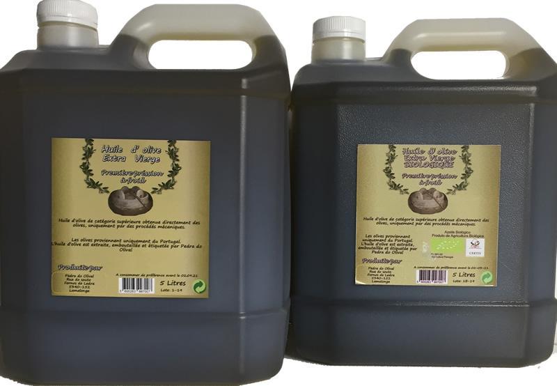 Azeite virgem extra Biologico 5 litros - Pedra Do Olival