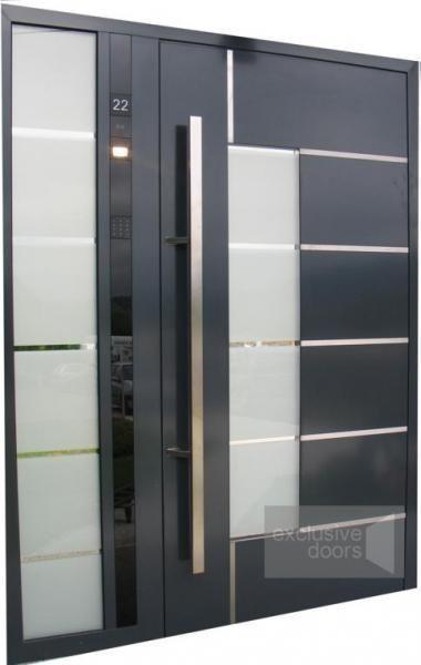 Drzwi z panelem kontrolnym DCS - drzwi aluminiowe