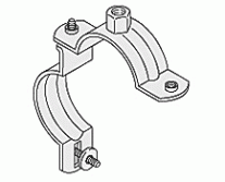 Pipe Clamps - WUS Practica Single Bossed Clamp M8/M10 unlined