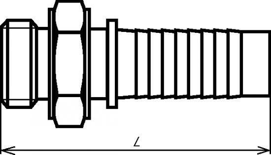 EMBOUT MÂLE  - AVEC COLLERETTE INOX 316 (5271)