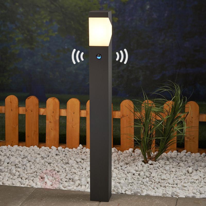 LED Borne lumineuse Kiran à détect de mouvement - Bornes lumineuses avec détecteur