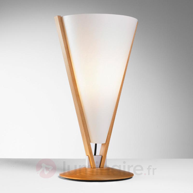 Lampe à poser SEBA avec interrupteur manuel - Lampes à poser en bois