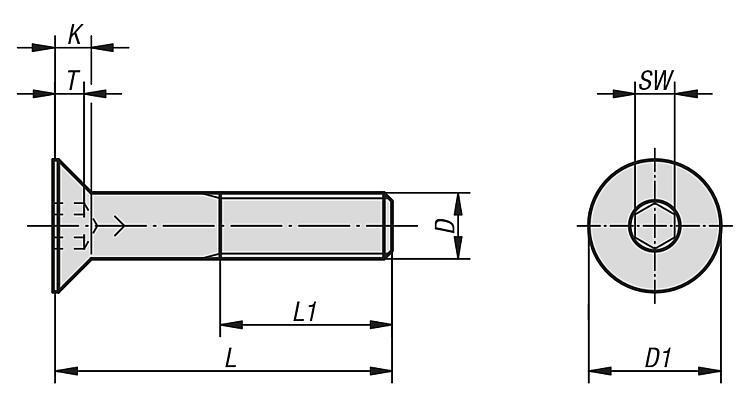 Vis FHC/90 DIN EN ISO 10642 - Éléments de liaison