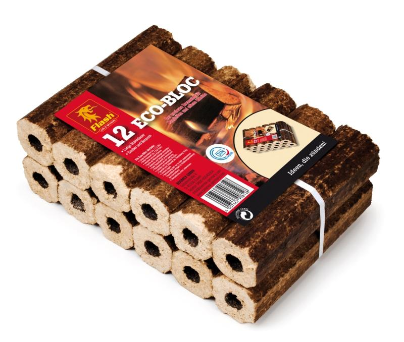 FLASH Holzbriketts Eco-Bloc 12 Stück - null