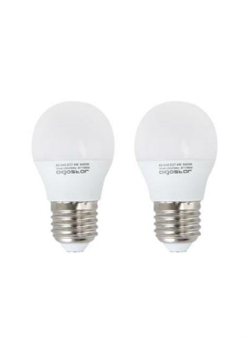 Lampadine LED E27 2pz - 3/4/5/6/7W opaca 6400K 255/340/425/500/560lm