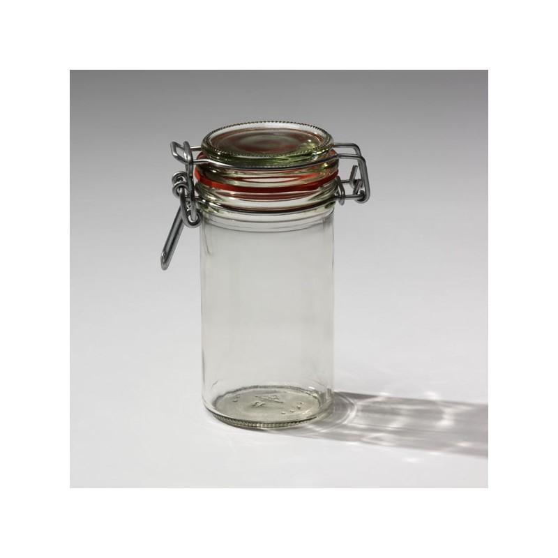 13 Jars with quill called also mechanical closing Ermetico - (standard Fido jar), capacity 277ml