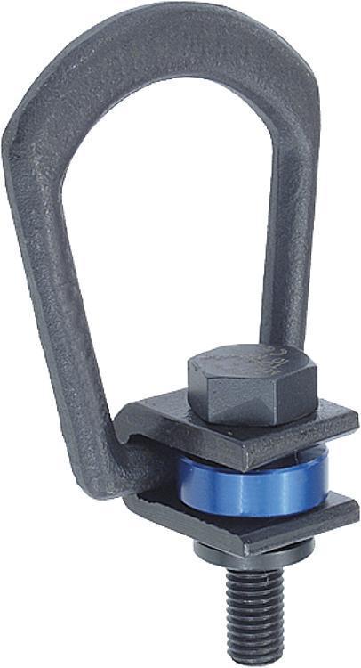 Anneau de levage à traction latérale - Anneaux de levage fixes et pivotants, anneaux à broche autobloquante