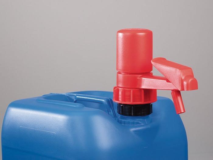 Pump-it® container pump - Manual pump, exact dosing, no drip, for weak acids, alkalis and petrochemicals