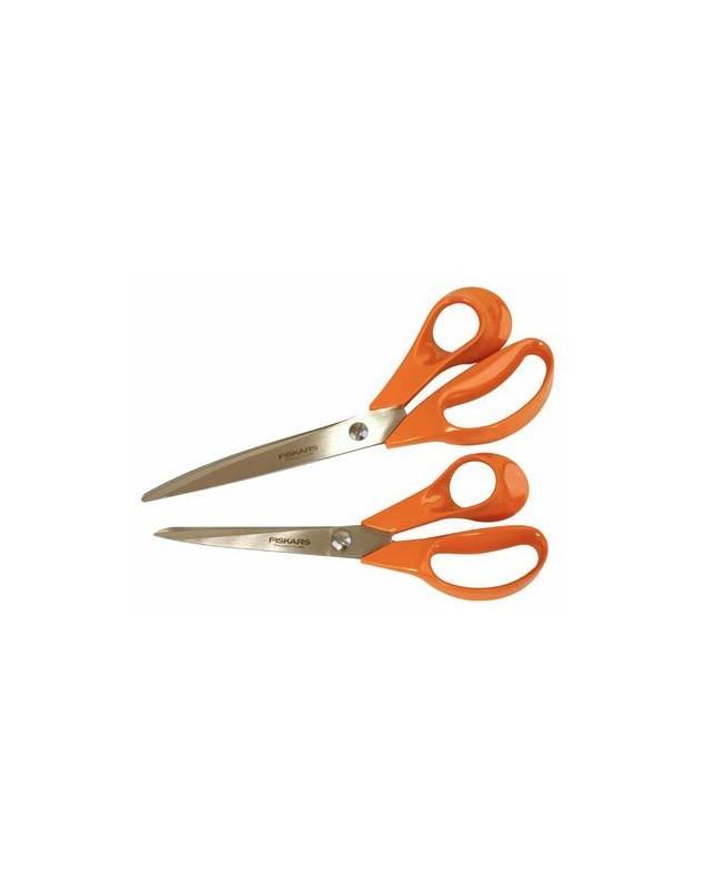 CISEAUX 21cm FISKARS DROITIER (orange) - CISEAUX