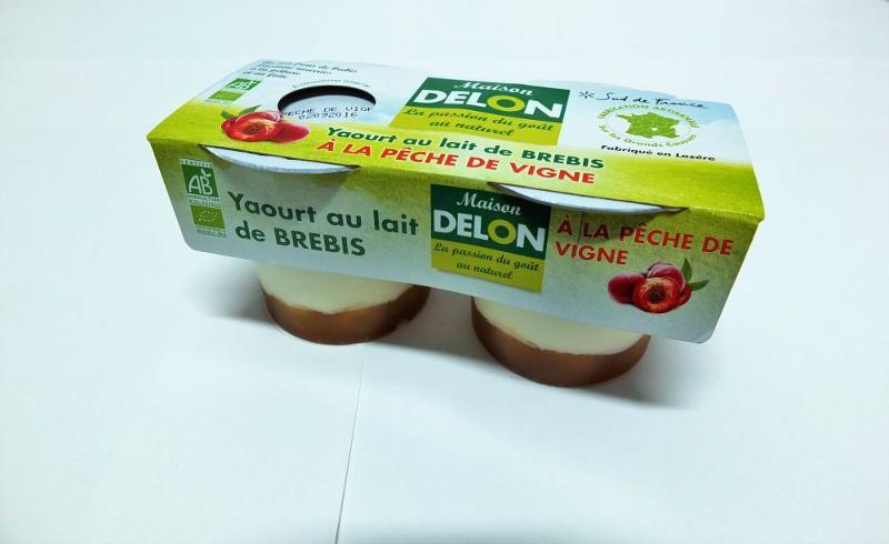 YAOURT AU LAIT DE BREBIS BIO PÊCHE DE VIGNE ( 2 x 100 grs ) - Produits laitiers