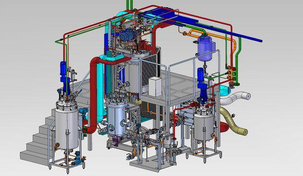 Hydrogenation Test Center HTC - Hydrogenation reactor and filtration unit