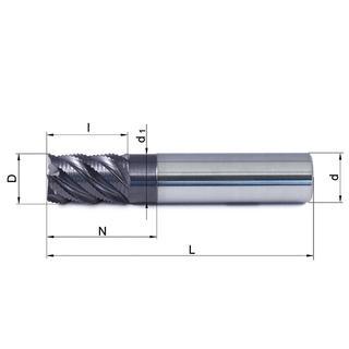 Vollhartmetallfräser VHM 446W-06 TS35 - null