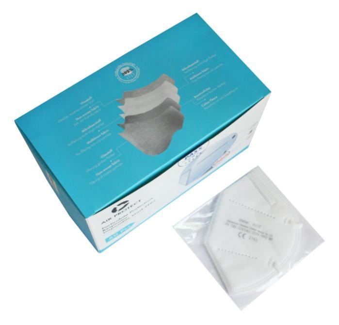 FFP2 Atemschutzmaske (50 Stück / Box) - Hergestellt nach nach DIN EN 149:2001 + A1:2009, CE 2163