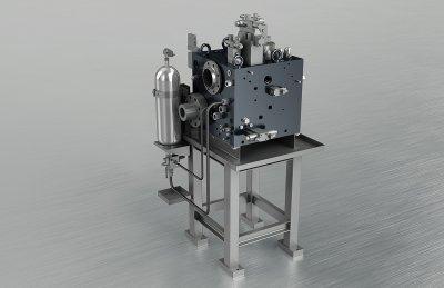 Hydraulikblock - Steuerblock Schmiedepresse (2613 kg)
