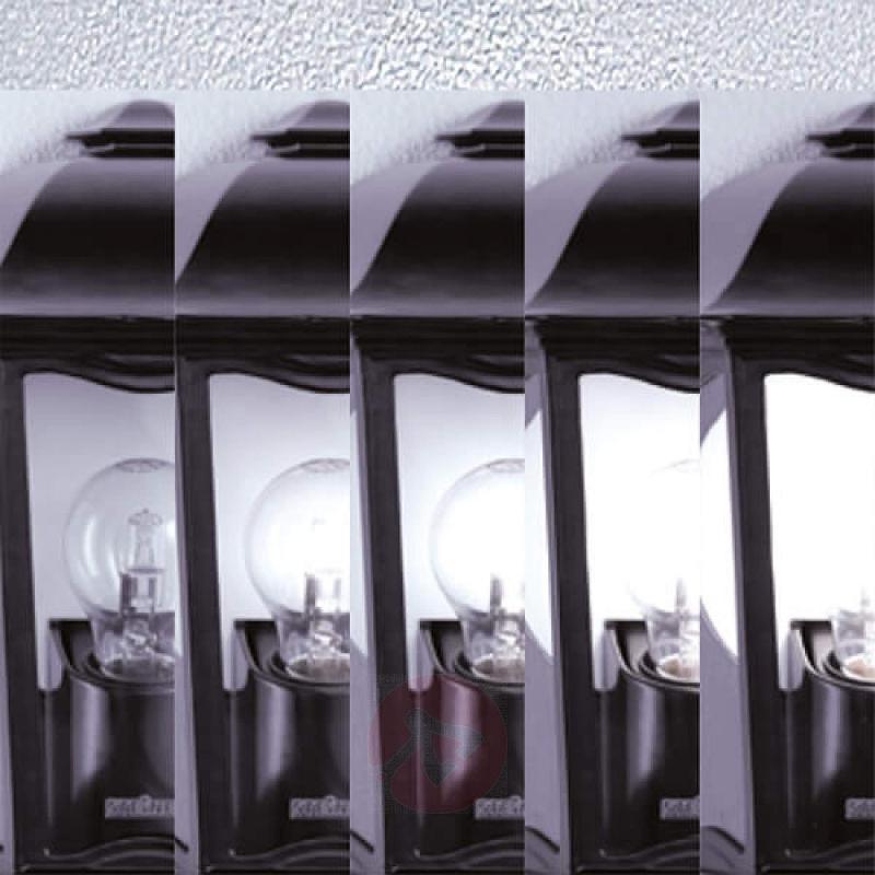 Steinel L 190 outdoor wall light, sensor, black - stainless-steel-outdoor-wall-lights