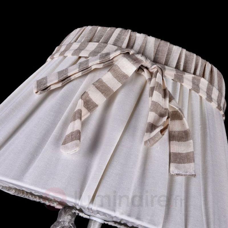 Lampadaire Bird orné d'un petit oiseau - Lampadaires en tissu