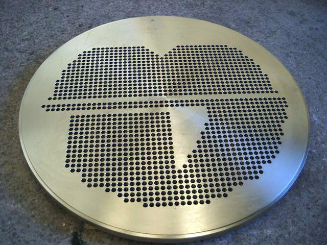Tubular plate Ø1500 thickness 80mm - Heat exchangers and condensers