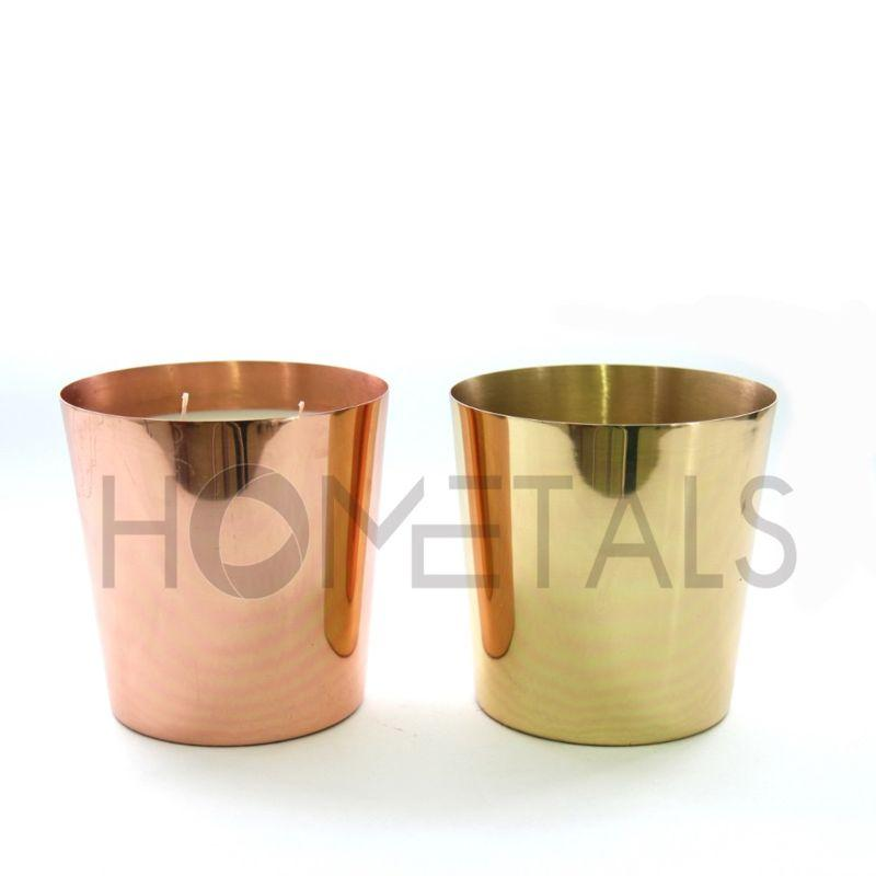 Large taper design containers with scented candles - Large taper candles