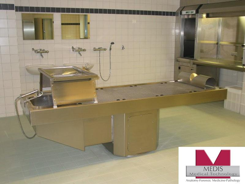Autopsy Table with Pedestal, Perforated - MA-0975