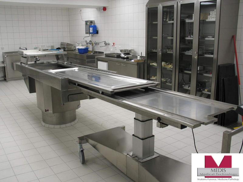 Multifunction Autopsy Table with side wall - MA-3500