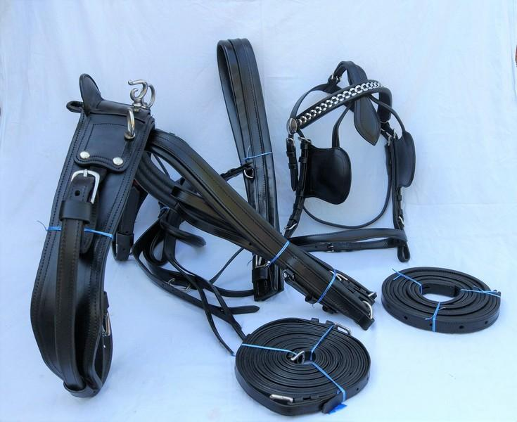 Leather Driving Harness Set - Full Leather harness set