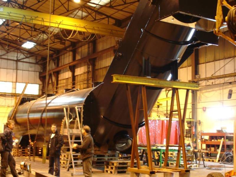 Remplacement d'un décanteur dans l'industrie sidérurgique - Industrie