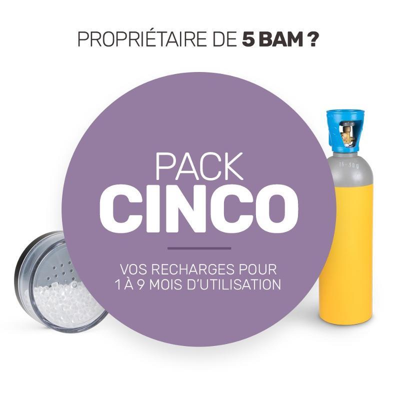 Pack de recharge de consommables pour vos cinq BAM - Pack Cinco