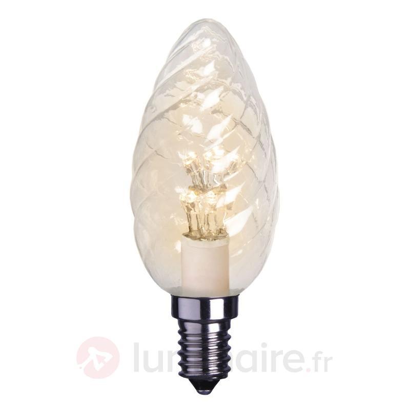 Lampe LED E14 0,9W transparente torsadée - Ampoules LED E14