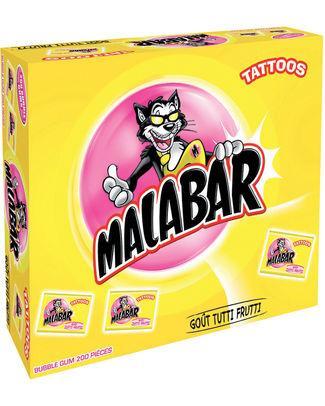 Malabar tutto frutti + tattoos 6gr - Import / Confiserie