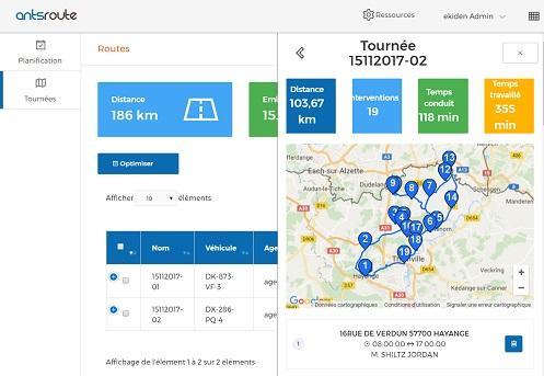 AntsRoute - Logiciel de gestion et d'optimisation de tournées