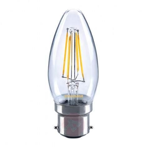 B22 4W 827 LED candle bulb, matt - light-bulbs