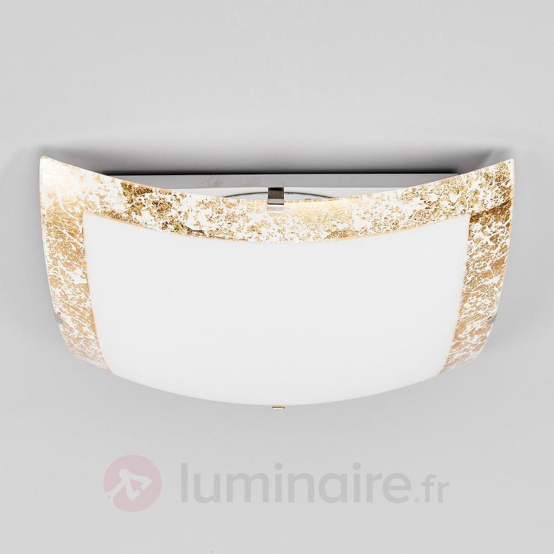 Plafonnier LED Mirella avec bordure dorée - Plafonniers LED