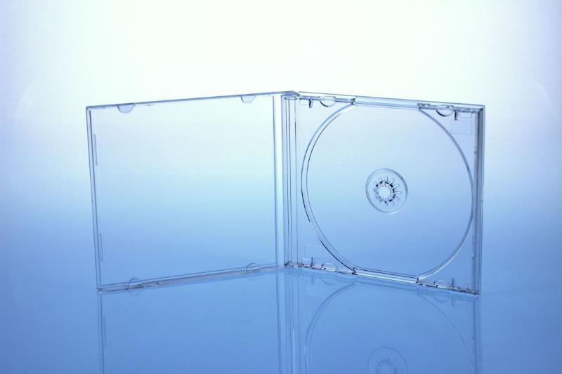 CD Jewelcase für 1 Disc - montiert mit transparentem Tray - Jewelboxen & Trays