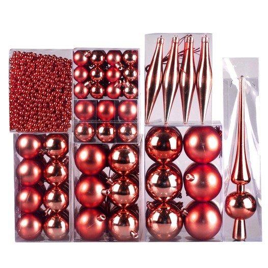 Weihnachtskugel 130-teiliges Set Farbe: Rot - null