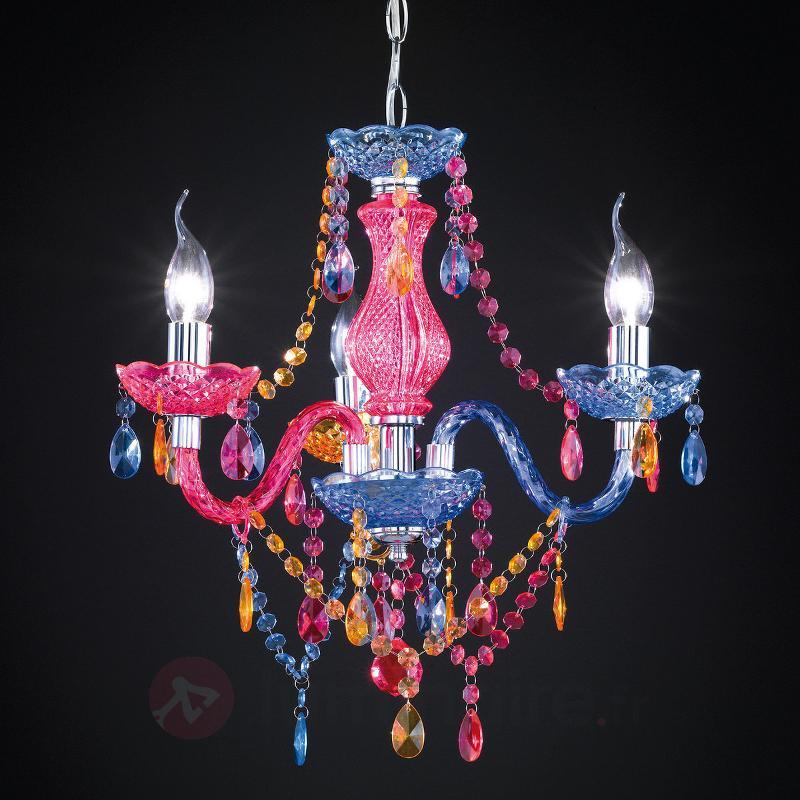 Lustre coloré Perdita pendeloques en acrylique - Chambre d'enfant