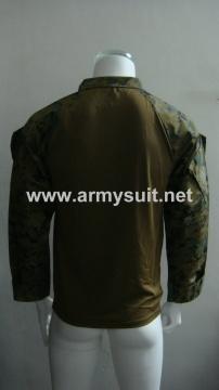 combat shirt digital woodland with frog logo - PNS-CS131203B