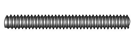 Gewindebolzen (Gewindestangen), metrisches Gewinde - Material A2 | A4 | 1.4571 | 1.4462 | 1.4529