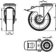 1 Apparate-Räder und -Rollen - LKRA-TPA 101G-FI-ELS