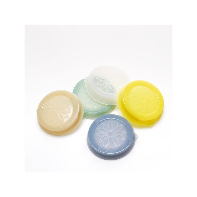 Accessori WECK® - Cuffia in silicone Blossom eCAP Storage, diametro 60 mm, colore Bianco per vasi