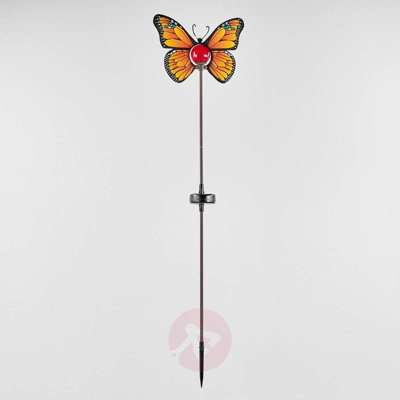 Yellow LED solar light Butterfly - Decorative Solar Lights