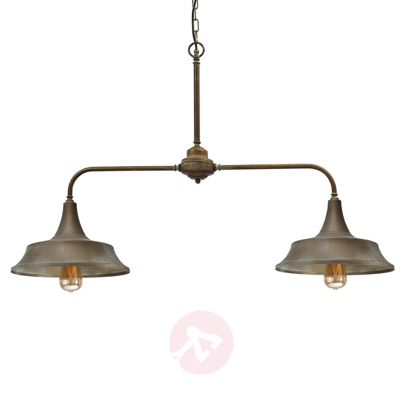 Garza - 2-bulb industrial linear ceiling light - indoor-lighting