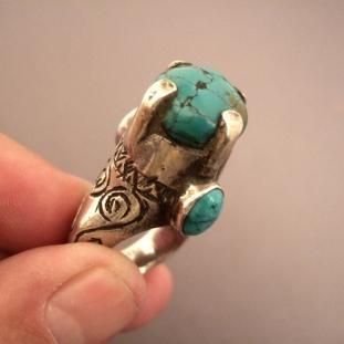 Bagues - Argent, turquoises, Afghanistan