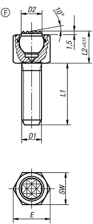 Support réglable à bille oscillante avec joint torique... - Support à bille oscillante