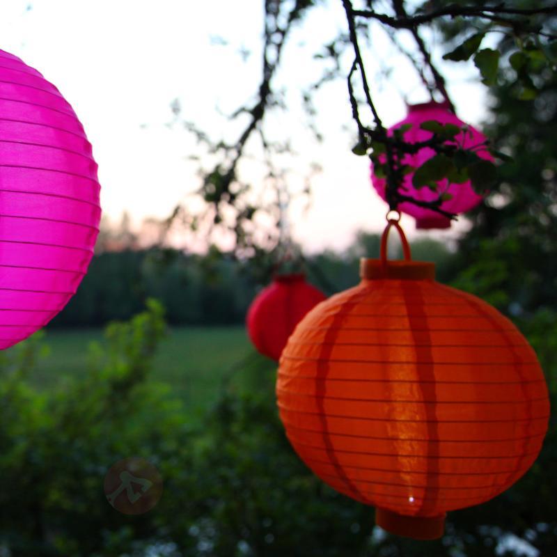 Lampion solaire orange Jerrit avec lumière LED - Lampes solaires décoratives