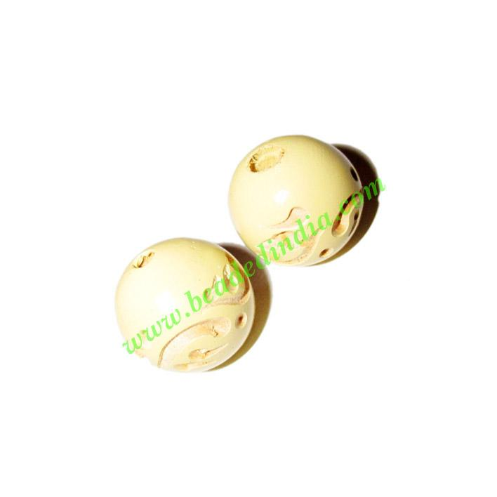 Wooden Carved Beads, size 16mm, weight approx 1.35 grams - Wooden Carved Beads, size 16mm, weight approx 1.35 grams