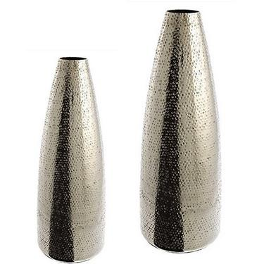 Decorative Flower Vases Decorative Aluminum Hammered Vases The