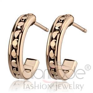 Fashion Earrings - IP Rose Gold(Ion Plating) Top Grade Crystal Earrings