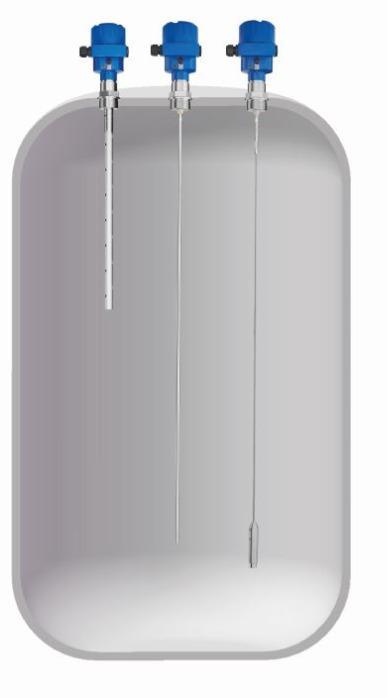 NivoCapa® NC8000 Capteur de niveau capacitif - Mesure continue du niveau dans les liquides, les boues et les poudres.