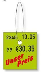 Labels - Plastic hanging labels